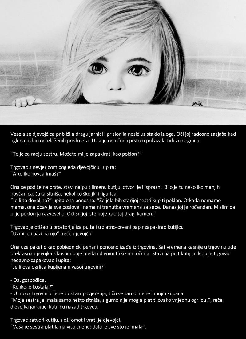 siromašna djevojčica - poklon