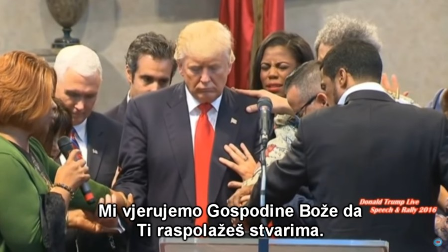 Donald Trump molitva
