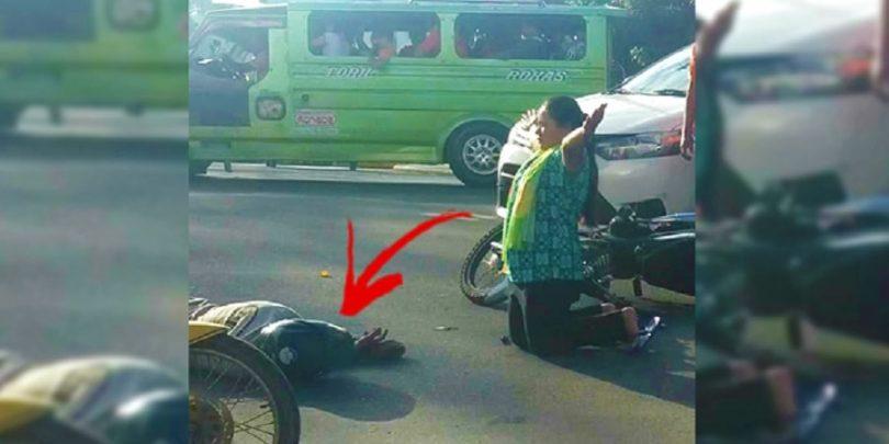 žena je kleknula u molitvi