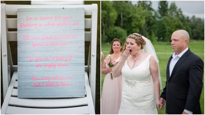 prazna stolica pokojni sin vjenčanje