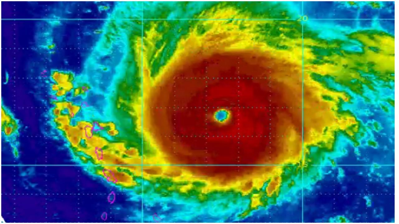 najsnažniji uragan ikada