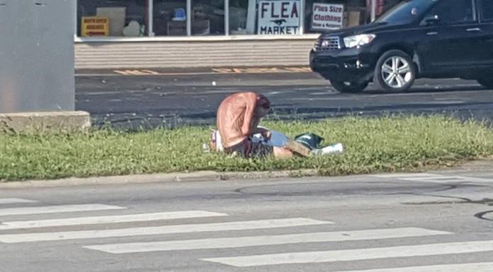 beskućnik na ulici