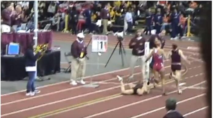 atletičarka pala na utrci