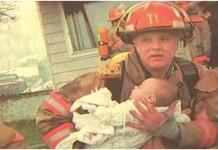 vatrogasac spasio djevojčicu iz vatre