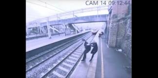 žena suicidalan muškarac vlak