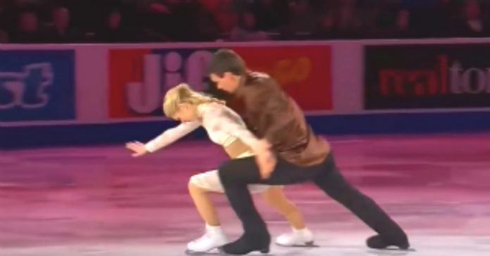 Klizanje na ledu muž i žena