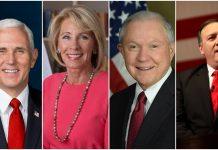 članovi američkog predsjedničkog kabineta proučavaju Bibliju