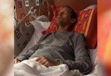 ležao u bolničkom krevetu očekujući smrt
