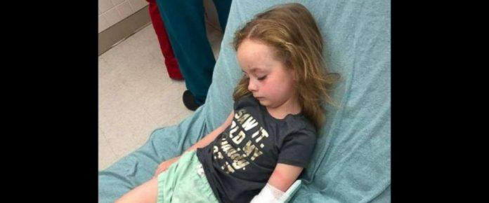 djevojčica ubod krpelja paralizirana