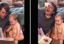 tata je svojoj bebi čitao knjigu