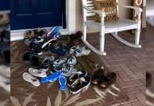 cipele ispred ulaznih vrata