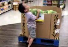 dječaku ispala lubenica