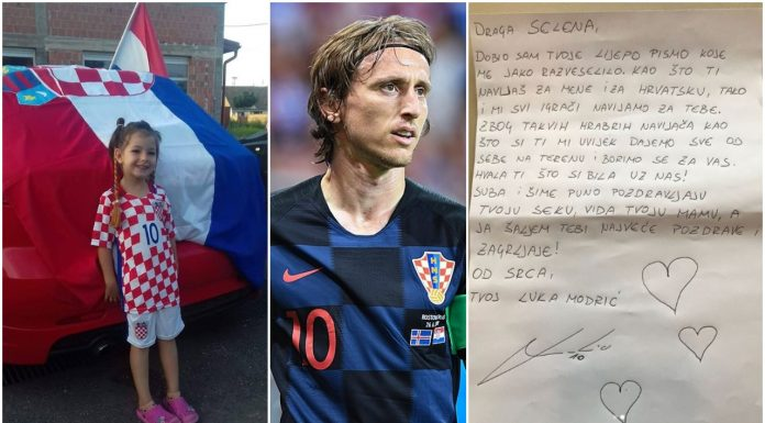 djevojčica pismo Luka Modrić