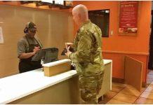 vojnik u restoranu