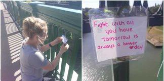 Žena je gotovo skočila s mosta u smrt, no tada je uočila jednu poruku