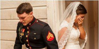 Nekoliko minuta prije vjenčanja mladoženja je primio mladenku za ruku i otkrio joj istinu o sebi