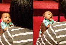beba pjeva u crkvi