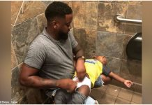 12-godišnja djevojčica je fotografirala oca i bebu na toaletu