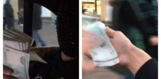 Bahati mladić je snimao sebe kako baca novac iz automobila