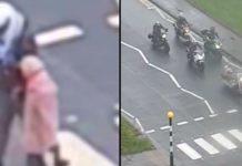 Bajker pomogao starici da pređe cestu dok su je ostali vozači ignorirali