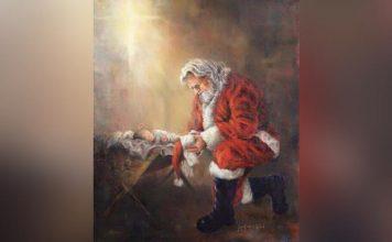 Facebook cenzurirao sliku Djeda Božićnjaka koji kleči pred malenim Isusom nazivajući to ''nasilnim sadržajem''