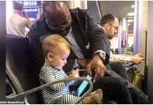 Stranac na aerodromu je upitao djevojčicu da sjedne s njim