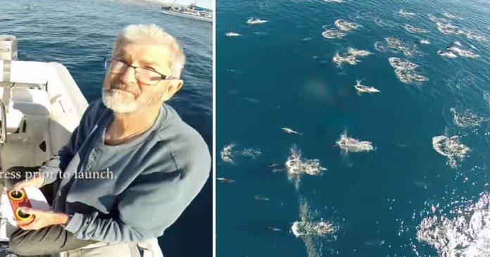 Muškarac slučajno dronom snimio nevjerojatan događaj iznad oceana