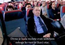Pilot u avionu priredio iznenađenje za svog nekadašnjeg učitelja