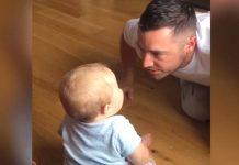 Tata je pokušao nasmijati bebu, ali se iznenadio kada je čuo njen glas