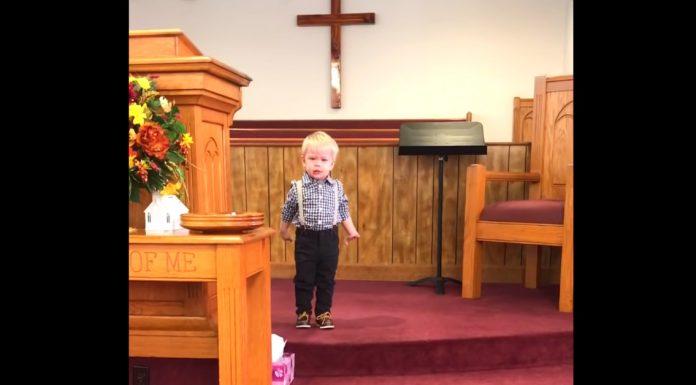 dječak održao prvu propovijed