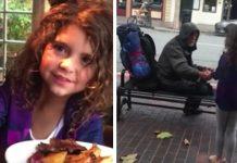 Djevojčica izašla iz restorana kako bi nahranila beskućnika