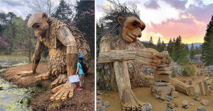Danski umjetnik izradio nevjerojatne skulpture duboko u šumi
