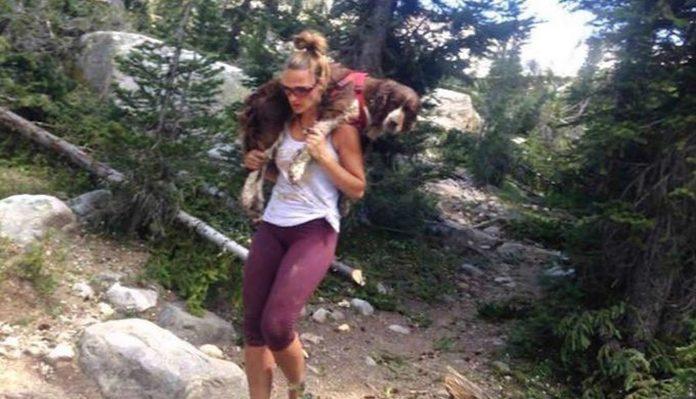 Šest sati je na ramenima nosila psa kako bi mu spasila život
