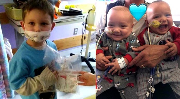 Stariji brat (4) je donirao koštanu srž kako bi spasio braću blizance