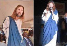 Čovjek hoda ulicama tvrdi Isus Krist
