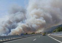 Stravični požari planuli kod Šibenika, šire se prema autocesti