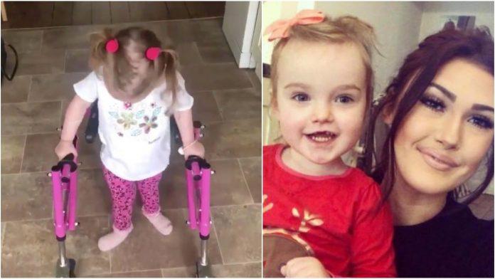 Djevojčica (3) prohodala iako su liječnici tvrdili da neće nikada