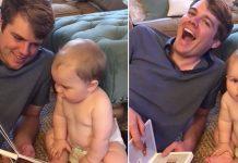 Mislio je da će prva bebina riječ biti ''tata'', no gadno se prevario