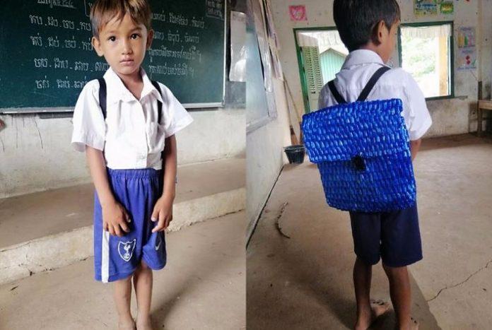 Tata nije mogao priuštiti sinu novi ruksak pa mu ga je sam izradio