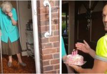 100-godišnjakinja se slomila kada je vidjela iznenađenje na vratima