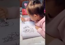 Beba je uzela flomaster i ostavila roditelje bez teksta