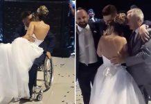 Otac i brat pomogli paraliziranom mladoženji da zapleše s mladom