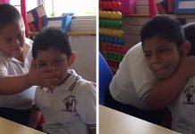 Učiteljica snimila dječaka s Downovim sindromom kako briše suze svom kolegi s autizmom