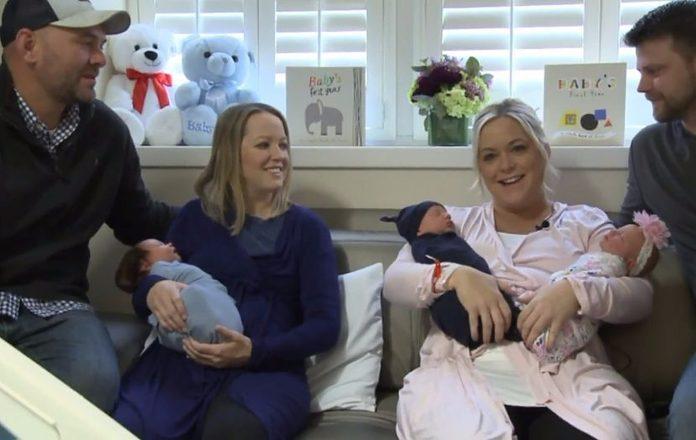 Blizanke rodile na isti dan, a jedna od njih je rodila blizance