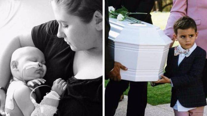 Brat (5) je nosio maleni lijes svoje sestre koja je umrla od neuroblastoma