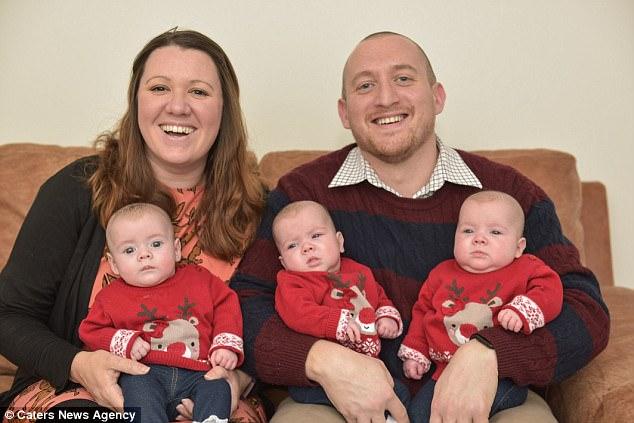 Par koji se borio s neplodnošću je za Božić dobio trojke 1