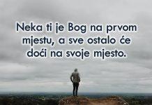 Prvo traži Boga, a Njegovi blagoslovi će već doći