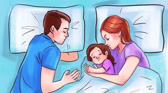 Spavanje s djecom u istom krevetu