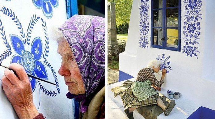 Baka (91) pretvorila selo u galeriju