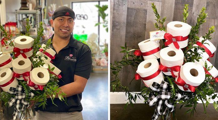 Cvjećar je pravio bukete od WC papira iz šale